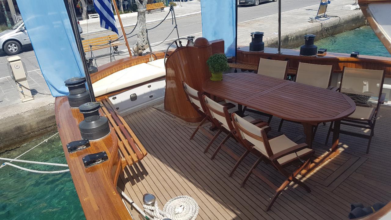 Custom Made  Schooner Motor Sailboat Odysseus A.  4
